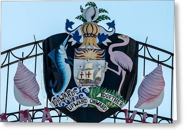 Square Crest Bahamas Village Key West Greeting Card