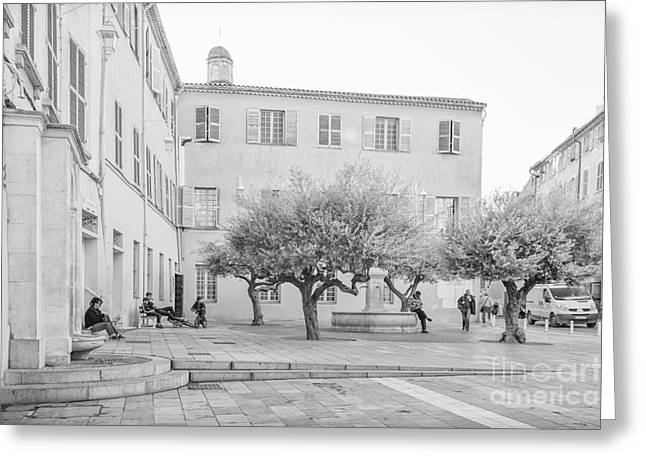 Square Life In Provence Greeting Card