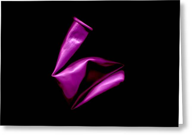 Square Magenta Balloon Greeting Card by Julian Cook