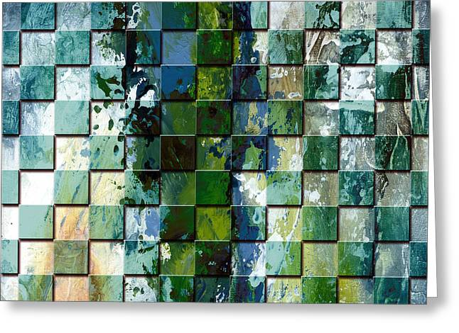 Square Mania - Abstract 01 Greeting Card by Emerico Imre Toth