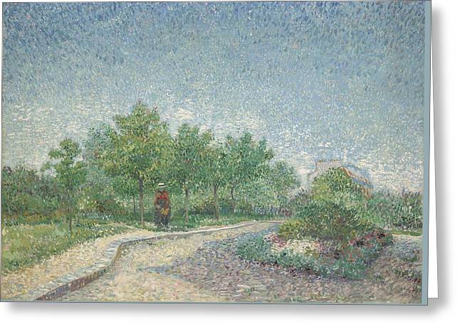 Square Saint-pierre, Paris, 1887 Greeting Card by Vincent van Gogh