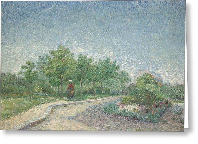 Square Saint Pierre Greeting Card by Vincent van Gogh