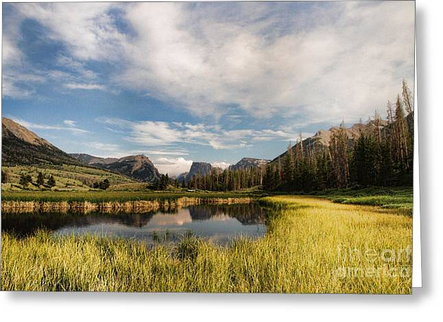 Square To At Green River Greeting Card by Edward R Wisell