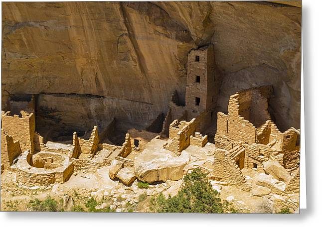 Square Tower House At Mesa Verde Greeting Card