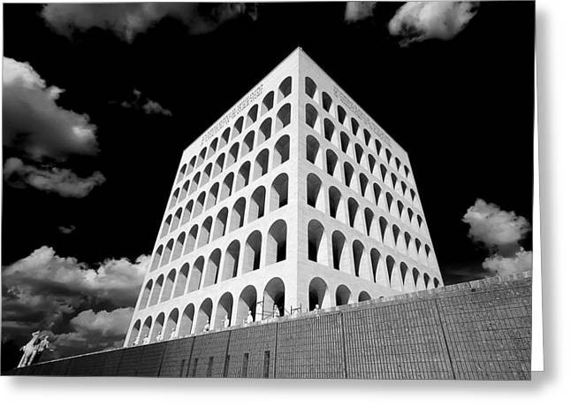 Squared Colosseum#1 Greeting Card by Patrizio Cipollini