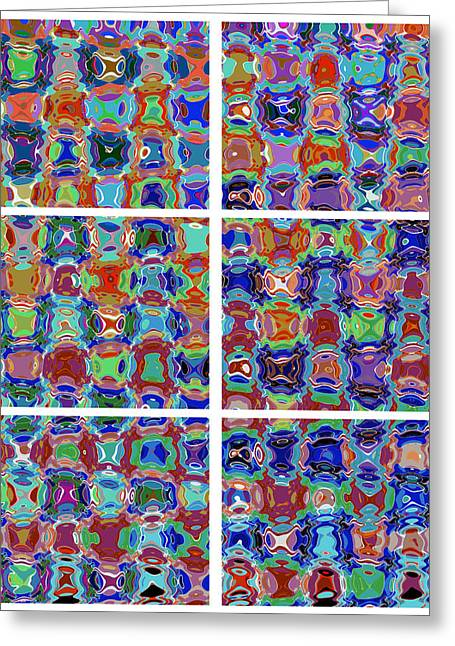 squared graphics  Pattern Micro Images created by NavinJoshi Artist Characters faces eyes cartoons p Greeting Card