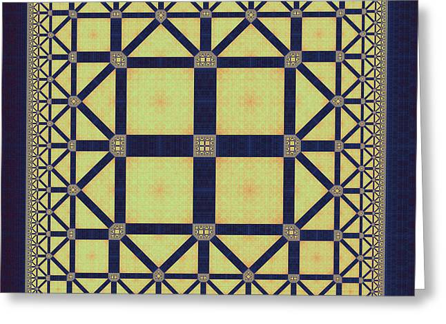 Squares And Triangles Greeting Card by Mark Eggleston