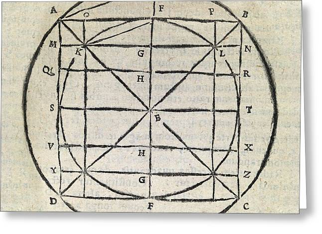 Squaring The Circle, 17th Century Greeting Card by Middle Temple Library