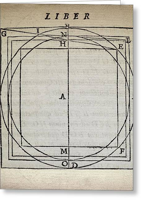 Squaring The Circle Greeting Card by Middle Temple Library