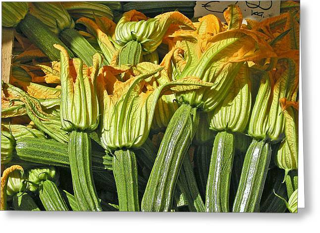 Squash Blossoms Greeting Card by Jean Hall