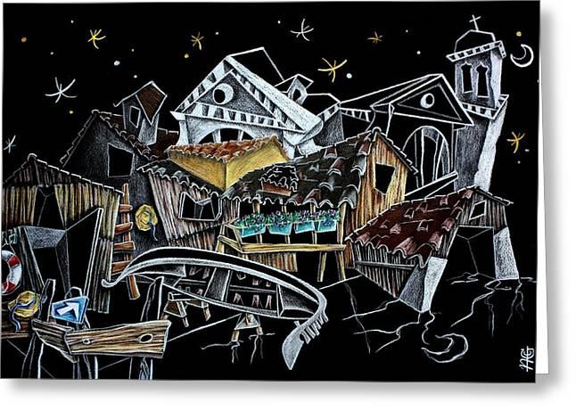 Squero Di San Trovaso - Regata Storica Di Venezia Greeting Card by Arte Venezia