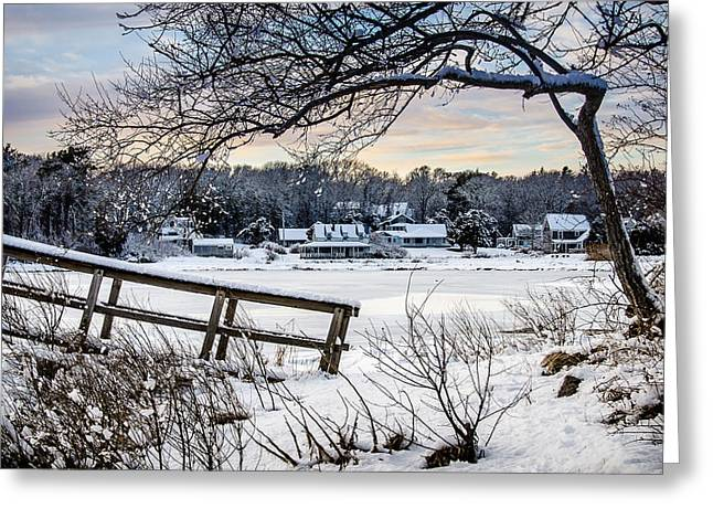 Squeteague Harbor Winter Greeting Card