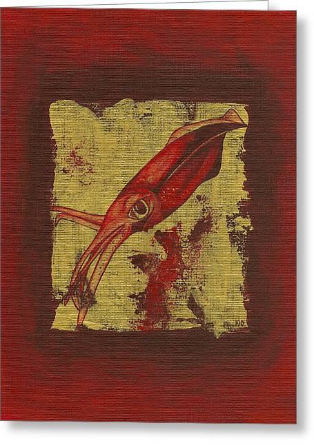 Squid Greeting Card