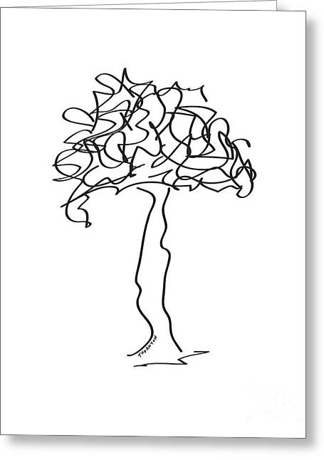 Squiggle Tree 2 Greeting Card