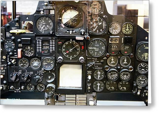 Sr-71 Blackbird Control Panel. Greeting Card