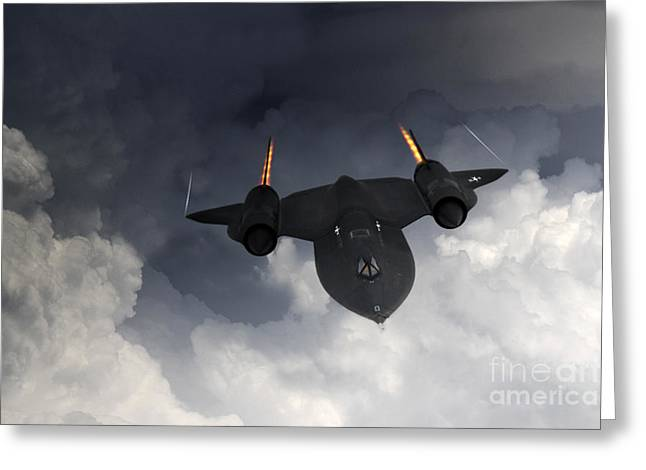 Sr-71 Blackbird Greeting Card by J Biggadike