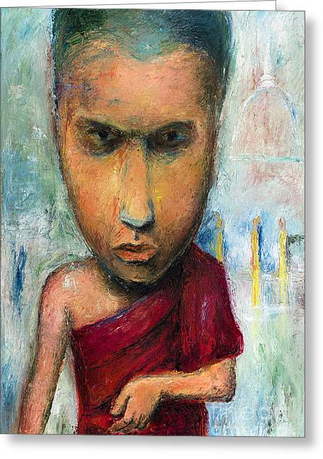 Sri Lankan Monk - 2012 Greeting Card by Nalidsa Sukprasert