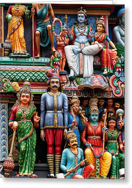 Sri Mariamman Temple 02 Greeting Card by Rick Piper Photography