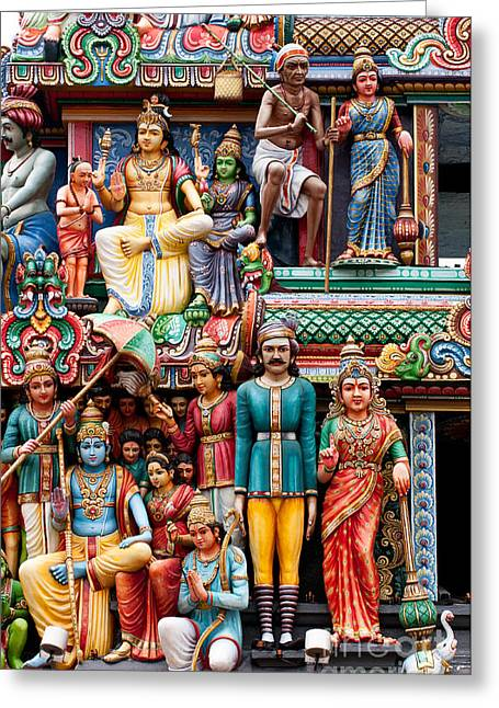 Sri Mariamman Temple 04 Greeting Card by Rick Piper Photography