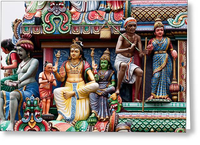 Sri Mariamman Temple 05 Greeting Card by Rick Piper Photography
