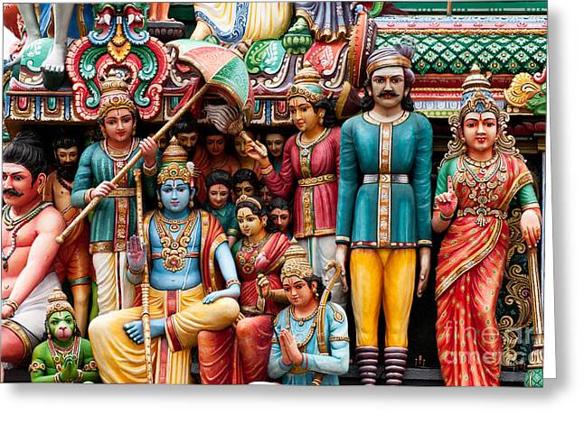 Sri Mariamman Temple 06 Greeting Card by Rick Piper Photography