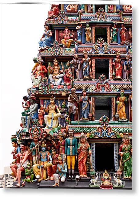 Sri Mariamman Temple 07 Greeting Card by Rick Piper Photography