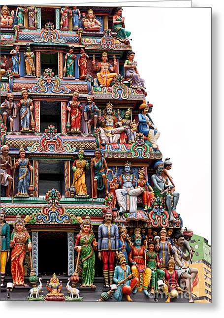 Sri Mariamman Temple 08 Greeting Card by Rick Piper Photography