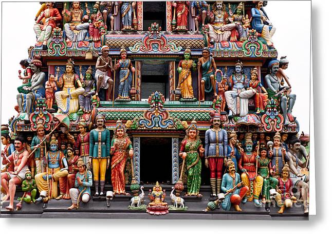 Sri Mariamman Temple 09 Greeting Card by Rick Piper Photography