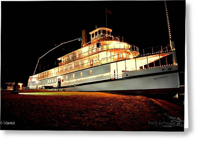 Ss Sicamous Frontview 1/21/2014  Greeting Card
