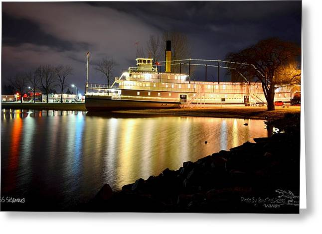Ss Sicamous Steam Ship 1/21/2014  Greeting Card by Guy Hoffman