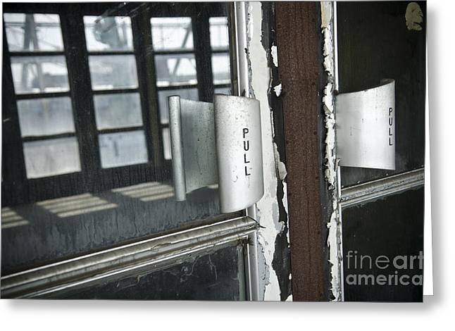 Ss United States Ballroom Doors Greeting Card by Jessica Berlin
