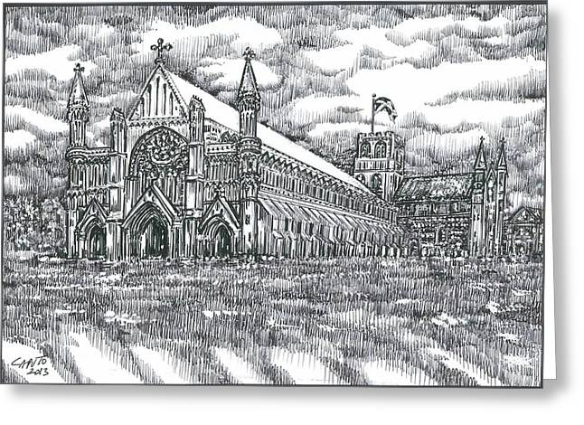 St Albans Abbey - England Greeting Card by Giovanni Caputo