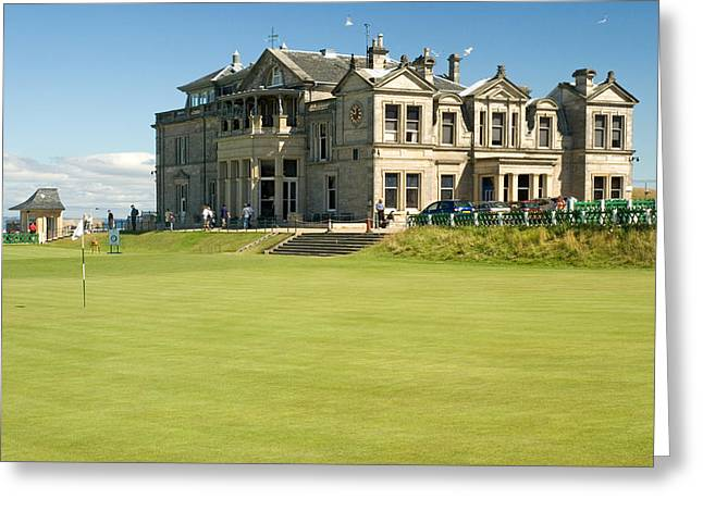 St Andrews Final Green And Clubhouse  Greeting Card by Jeremy Voisey