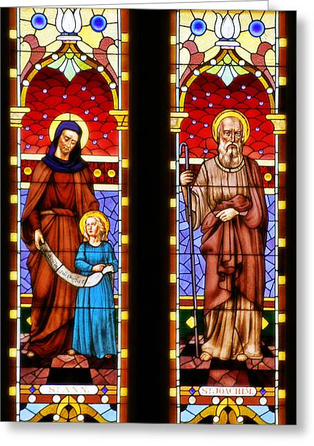 St Ann And St Joachim Greeting Card by Christine Till