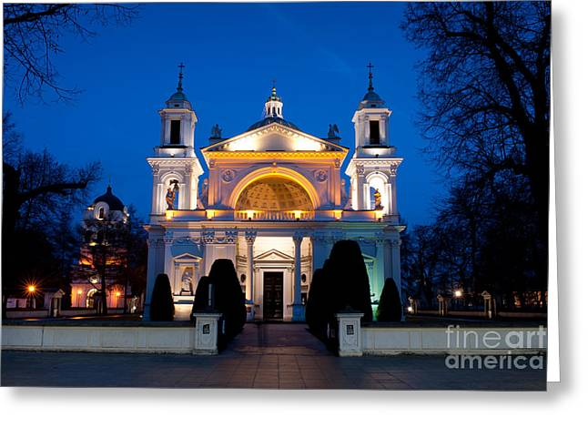 Roman Catholic Church St Anna In Wilanow  Greeting Card by Arletta Cwalina