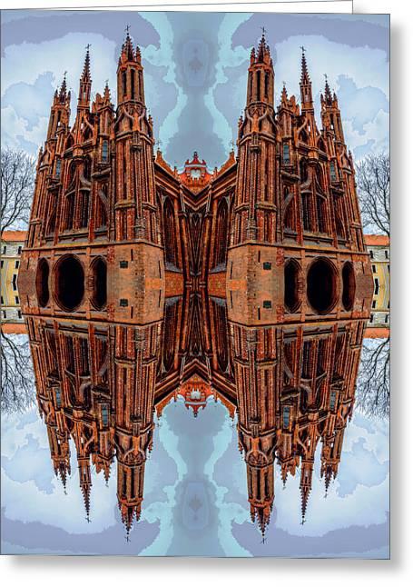 St. Anne's Church Art Greeting Card by Yevgeni Kacnelson