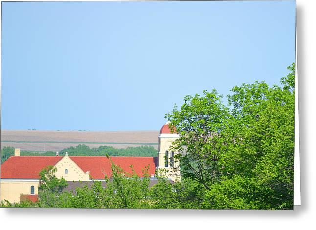 St Anthonys Cedar Rapids Ne Greeting Card by Renie Rutten