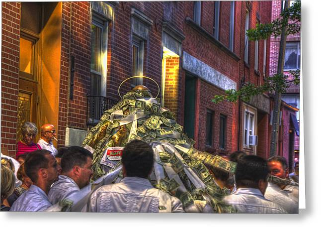 St Anthony's Feast - Boston North End Greeting Card