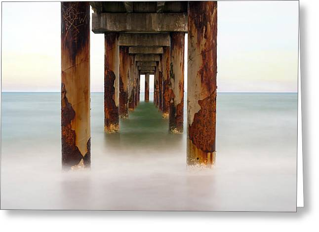 Greeting Card featuring the photograph St. Augustine Beach Pier by Marion Johnson