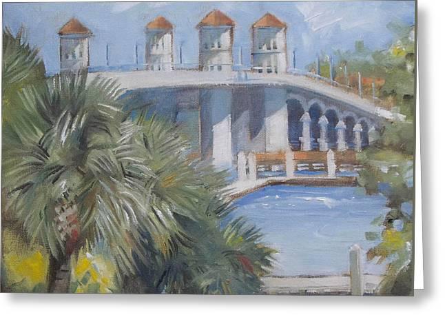St Augustine Bridge Of Lions Greeting Card