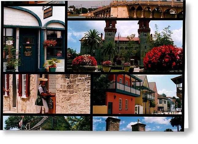 St Augustine In Florida - 1 Collage Greeting Card
