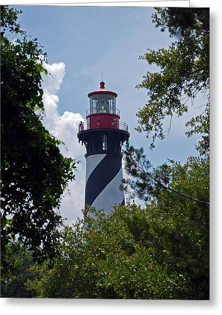 St. Augustine Light Greeting Card by Skip Willits