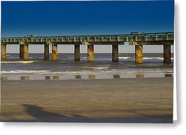 St. Augustine Pier Greeting Card by Donnell Carr