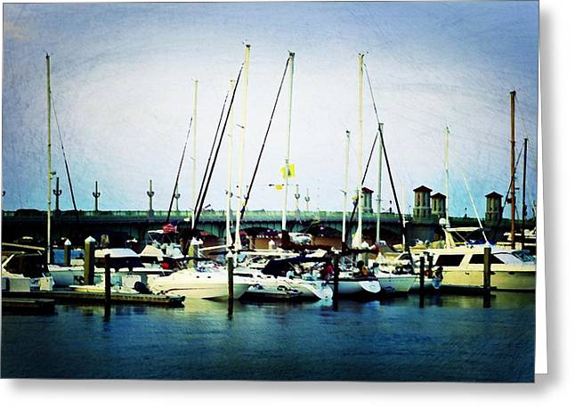 St. Augustine Sailboats Greeting Card by Laurie Perry