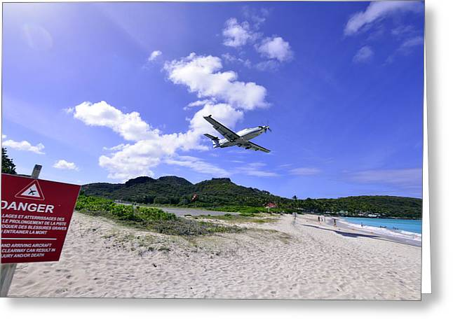 St Barts Takeoff Greeting Card