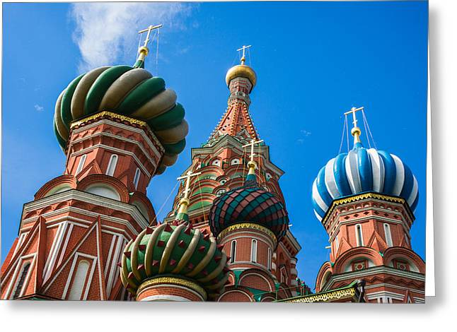 St. Basil's Cathedral - Featured 3 Greeting Card