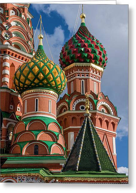St Basil's Cathedral Red Square Unesco Greeting Card by Tom Norring
