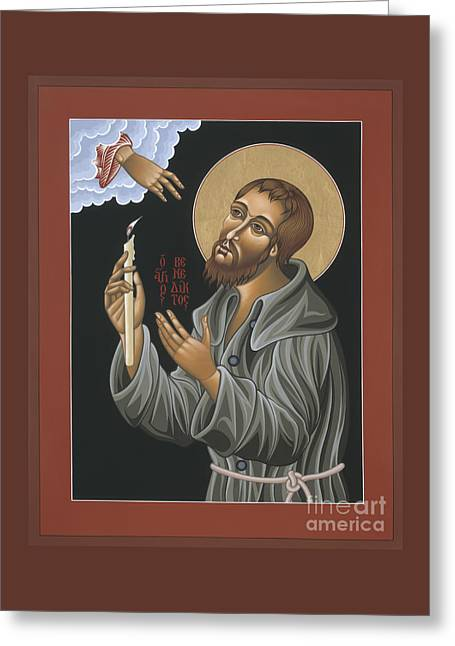Greeting Card featuring the painting St. Benedict Joseph Labre 062 by William Hart McNichols