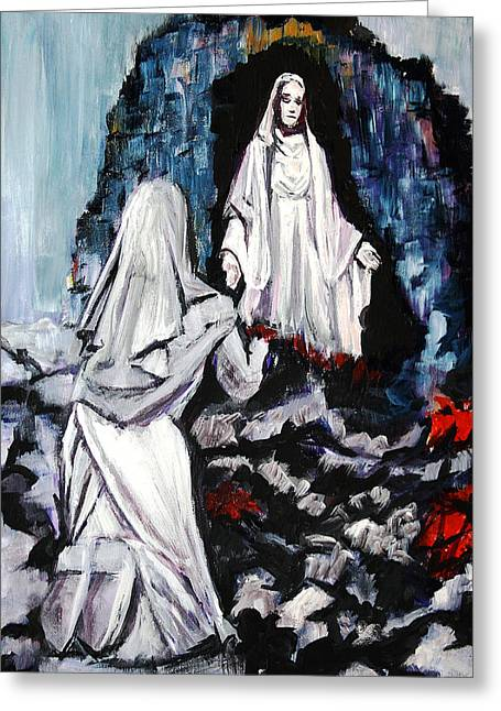 St. Bernadette At The Grotto Greeting Card