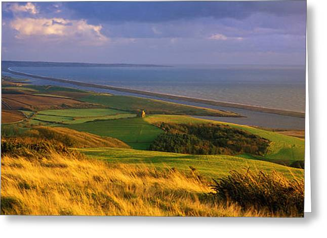St Catherines Chapel And Abbotsbury Greeting Card by Panoramic Images